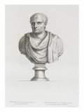 Tableau du Cabinet du Roi, statues et bustes antiques des Maisons Royales Tome II : planche 18 Lámina giclée por Etienne Baudet