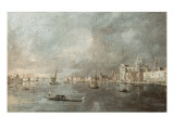 Vue de la Giudecca avec les Zattere Reproduction proc&#233;d&#233; gicl&#233;e par Francesco Guardi