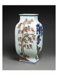 "Vase Decorated with the ""Three Friends"" Shaped Fanghu Giclee Print"