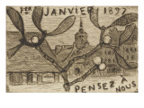 Volume III : carte postale , 1er janvier 1897 Giclee Print by Etienne Moreau-Nelaton