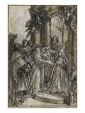 La visitation Giclee Print by Matteo Rosselli