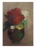 Vase de fleurs, pavot rouge Giclee Print by Odilon Redon