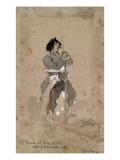 Femme à l'Hôtel de Ville, premier jour de La Commune 1871 Giclée-Druck von Daniel Urrabieta Vierge