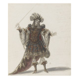 Tome III (1696 DR &#224; 1761DR) : Costumes de f&#234;tes et de mascarades. Th&#233;&#226;tre d Giclee Print by Jean I Berain