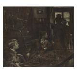 Un épisode de René Mauperin, roman d'Edmond et Jules Goncourt : Boisjorand de Villacourt provoque Giclee Print by James Tissot