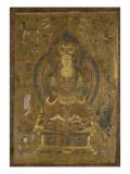 "Vénération de Guanyin ""secourable aux douleurs"" () ; Buddha cosmique Vairocana () Giclée-tryk"