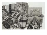Recueil : Le Grand Escalier du château de Versailles. planche 27 : vue d'un des quatre angles du Lámina giclée por Etienne Baudet