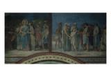 La Cène et Melchisédech offrant du pain et du vin, bénit Abraham, cinquième Lámina giclée por Hippolyte Flandrin