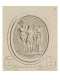 Suite d'estampes d'après les pierres gravées de Guay graveur du Roi (1711-1 Giclée-Druck von Joseph Marie Vien