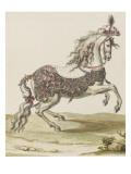 Tome III (1696 DR à 1761DR) : Costumes de fêtes et de mascarades. Théâtre de Louis XIV : cheval Giclee Print by Jean I Berain
