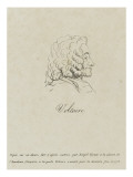 Voltaire (1694-1778), Represented Old, Profile, 1778 Giclee Print by Claude Joseph Vernet