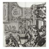 Recueil : Le Grand Escalier du château de Versailles. planche 25 : vue d'un des quatre angles du Lámina giclée por Etienne Baudet