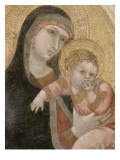 La Vierge et l'Enfant Reproduction procédé giclée par Ambrogio Lorenzetti