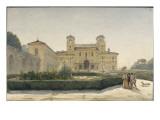 Villa Médicis : vue générale avec des personnages en costume Renaissance Giclee Print by Louis-Philippe-François Boitte