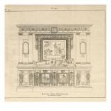 Musée des Monuments Français tome 5, par Alexandre Lenoir: planche 171 : mo Giclee Print by Charles Percier