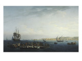 Vue du Golfe de Bandol, p&#234;che au thon Gicl&#233;e-Druck von Claude-Joseph Vernet