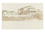 Vue de la Villa Borghèse Giclée-Druck von Pierre Henri de Valenciennes