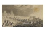 Back to the Drive for Mr Dauphin Old Castle of Meudon Giclee Print by Jean Baptiste Isabey