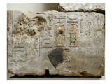 Wall Relief: King Tuthmosis Between Satis and Khnum Giclee Print