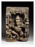 Wood Chariot Procession Representing Ganapati Dance Giclee Print