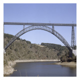 Vue du viaduc de Garabit Reproduction proc&#233;d&#233; gicl&#233;e par Alexandre-Gustave Eiffel