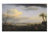 Vue de la rade d'Antibes Giclée-Druck von Claude-Joseph Vernet