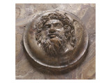 Vasque Medallion Is Adorned with a Head of River God Giclee Print