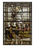 Vitraux de la chapelle du connétable de Montmorency au château d'Ecouen : Sainte Agathe et les Reproduction procédé giclée
