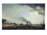 Vue du port de Rochefort Giclée-Druck von Claude-Joseph Vernet