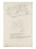 Deux études de décor Giclée-Druck von Francois Andre Vincent
