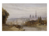 Vue de Rouen Reproduction procédé giclée par William Callow