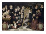 Otto Venius et sa famille : le peintre peignant parmi les siens Reproduction procédé giclée par Otto Van Veen