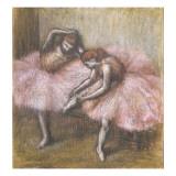 Deux danseuses roses Giclee Print by Edgar Degas