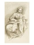 Jungfrau mit Kind Giclée-Druck von Arnould de Vuez