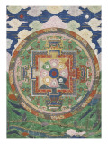 V&#226;n mandala Reproduction proc&#233;d&#233; gicl&#233;e