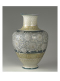 "Vase ""Couty"", Decorated with Bands of Roses Engraved Giclee Print"