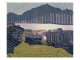 View Capolago, Blick Auf Den Über Capolago Silsersee Giclee Print by Giovanni Giacometti