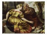 Vertume et Pomone Giclée-Druck von Cornelis de Vos