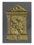 Vierge allaitant entourée de deux saints Reproduction procédé giclée