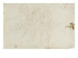 Deux hommes debout près d'un cheval Giclée-Druck von Arnould de Vuez