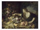 Femme prenant des fruits Giclée-tryk af Pier Francesco Mola