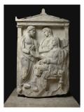 Stèle funéraire de Phainippos (fils de) Polyxénos, Mnésarétè (fille de) Soc Reproduction procédé giclée