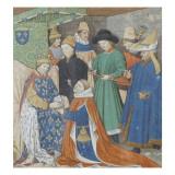 Première page de l'aveu rendu à René, roi de Jérusalem et de Sicile, duc d'Anjou par Jean de Giclee Print