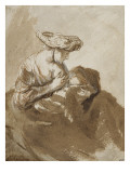 Femme allaitant un enfant Reproduction procédé giclée par Ferdinand Bol