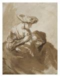 Femme allaitant un enfant Lámina giclée por Ferdinand Bol