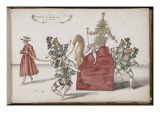 """Album ; Ballet de la Douairière de Billebahaut () ; """"Entrée du Grand Can et de ses suivants"""" ; Giclee Print by Daniel Rabel"""