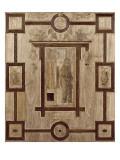 Boiseries de la chapelle du connétable de Montmorency au château d'Ecouen. Saint Jacques Reproduction procédé giclée par Jean Goujon