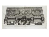 Recueil : Le Grand Escalier du château de Versailles. planche 30 : vue d'une des voussures du Lámina giclée por Etienne Baudet