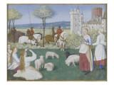 Suffrage des Saints du Livre d'Heures d'Etienne Chevalier : Sainte Marguerite et Olibrius dit Reproduction procédé giclée par Jean Fouquet