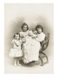 Yannick, Philip, Louise and Yolande De Beyssac Contil Giclee Print by R. Rineudeau